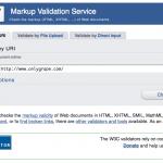 万维网联盟的HTML5规范验证页面